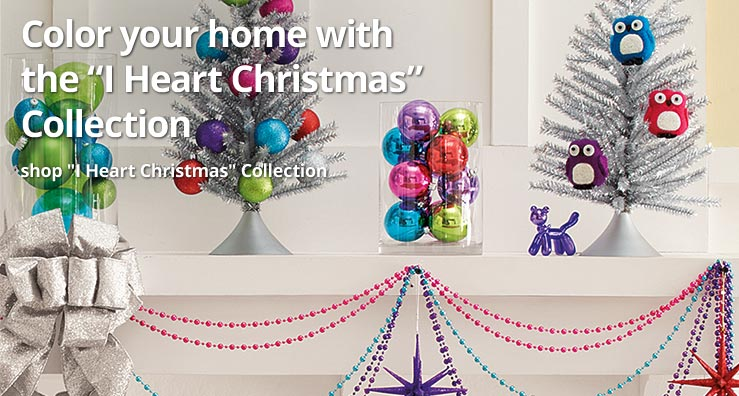 """Color your home with the """"I Heart Christmas"""" Collection"""